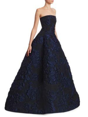 Strapless Cloqué Ball Gown