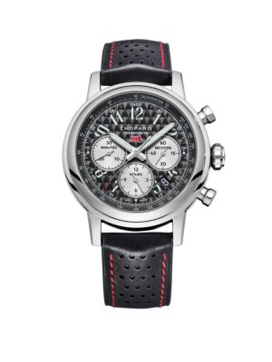 Mille Miglia Stainless Steel & Leather-Strap Chronograph Watch