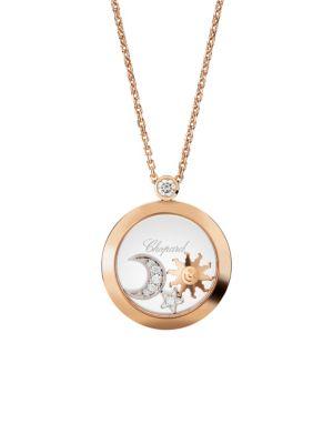 Happy Diamonds 18K Rose Gold & Diamond Pendant Charm Necklace
