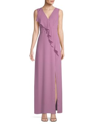 RUFFLED GEORGETTE GOWN