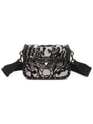 Tiger Guitar Strap Rockstud Shoulder Bag