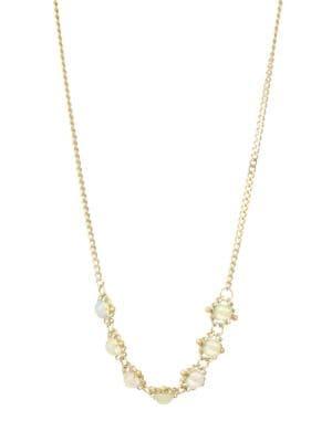 AMALI Ethiopian Opal & 18K Yellow Gold Chain Necklace