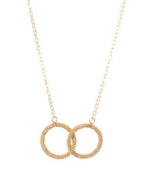 AMALI 18K Yellow Gold Stardust Interlock Necklace