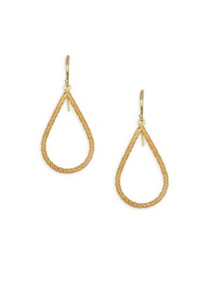 AMALI 18K Yellow Gold Stardust Teardrop Earrings