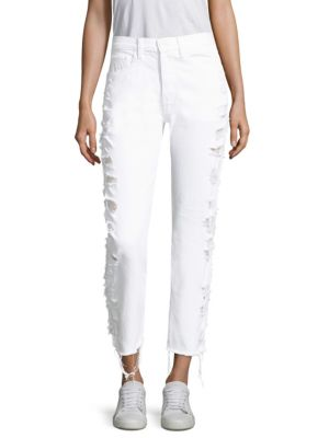 Higher Ground Cropped Distressed Jeans