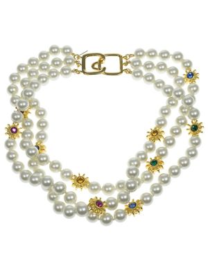 8MM Pearl Three-Row Necklace