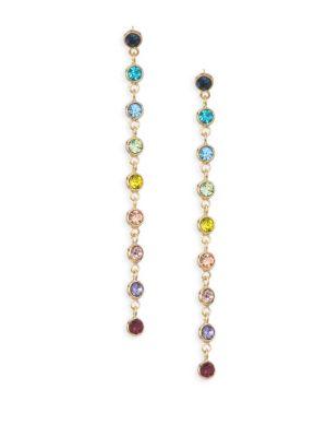 Multi-Color Glass Stone Drop Earrings