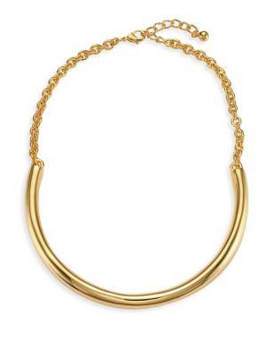 Polished Gold Bar Necklace
