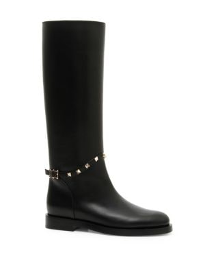 Rockstud Leather Boots