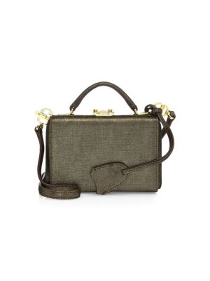 Grace Metallic Leather Mini Box Bag