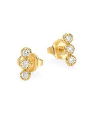 HEARTS ON FIRE Diamond & 18K Yellow Gold Earrings