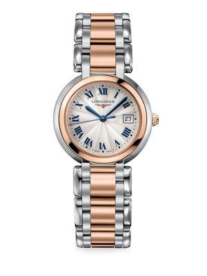 Primaluna 30MM Stainless Steel & 18K Rose Gold Watch