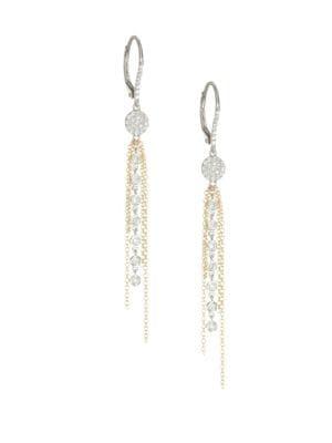 Diamond & Gold Fringe Earrings