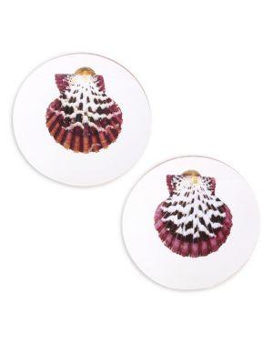 REBECCA DE RAVENEL Sirena Shell Earrings