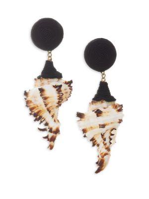 REBECCA DE RAVENEL High Summer Ophelia Shell Earrings
