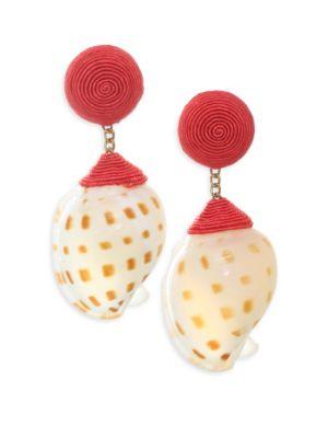 REBECCA DE RAVENEL Ophelia Shell Earrings