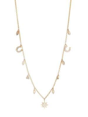 DEVON WOODHILL Good Feelings Diamond & Gold Charm Necklace