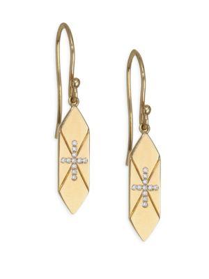 DEVON WOODHILL Faith Diamond & Gold Drop Earrings