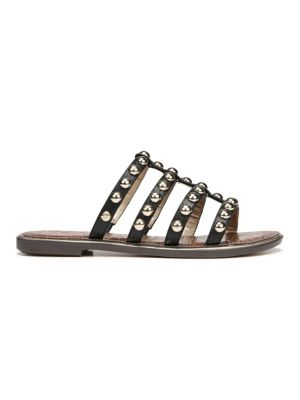 Glen Studded Leather Slides