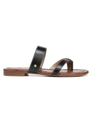 Bernice Leather Strap Slides