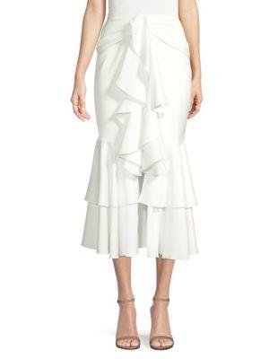PATBO Ruffle Midi Skirt