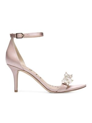 Land of Enchantment Platt Embellished Satin Sandals