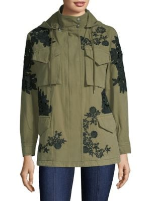 Meta Embroidered Oversized Jacket