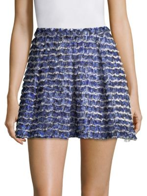 Printed Fil Coupe Mini Skirt