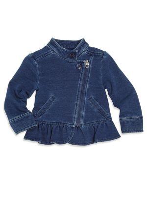 Baby Girl's Asymmetric Denim Jacket