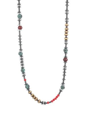 KING BABY STUDIO American Voices Multicolored Glass Bead Necklace