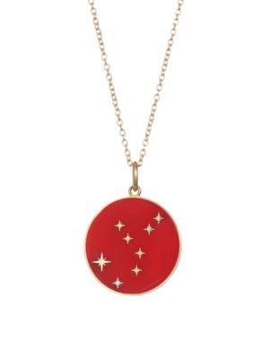 BARE Enamel Virgo Pendant With Stars