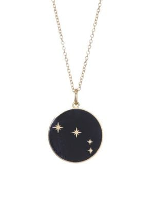BARE Enamel Aries Pendant With Stars