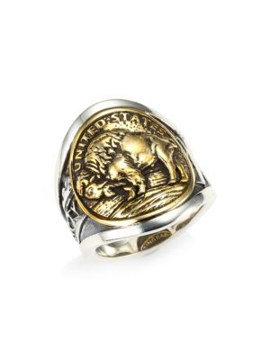 KING BABY STUDIO Sterling Silver & Nickel Buffalo Ring
