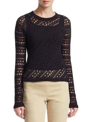 Crochet Crewneck Sweater