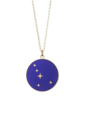 Constellation 18K Yellow Gold Cancer Pendant Necklace