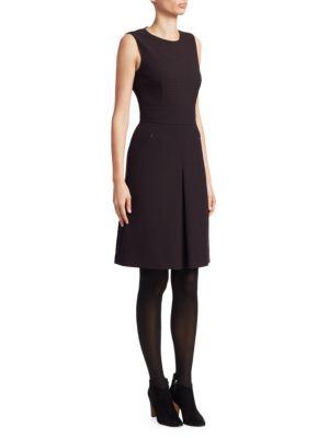 Gingham Sleeveless A-Line Dress