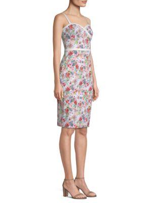 Daria Floral Sheath Dress by Black Halo