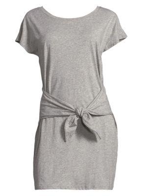 Alyra Tie Waist Tee Dress