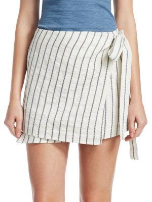 Striped Wrap Skirt