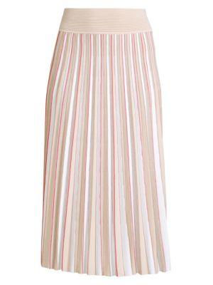 Merino Wool Pleated Skirt