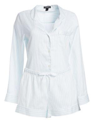 COTTONISTA Shortie Stripe Pajama Set