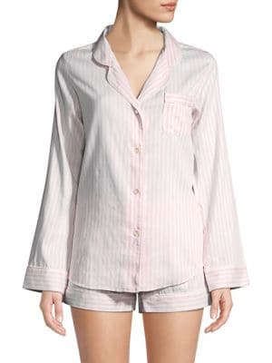 COTTONISTA Two-Piece Cotton Shorty Pajama Set
