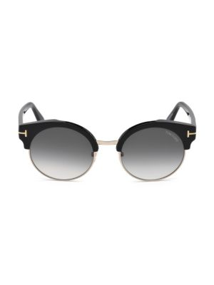 54MM Alissa Clubmaster Gradient Sunglasses