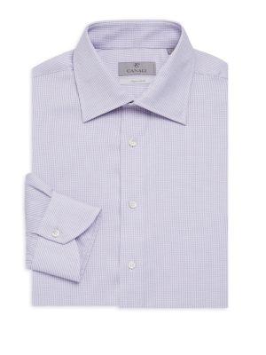 Micro Print Dress Shirt