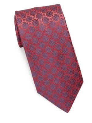 Medallion Rings Silk Tie