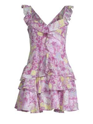 Cavallari Ruffle Mini Dress