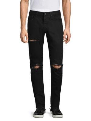 Windsor Distressed Black Skinny Jeans