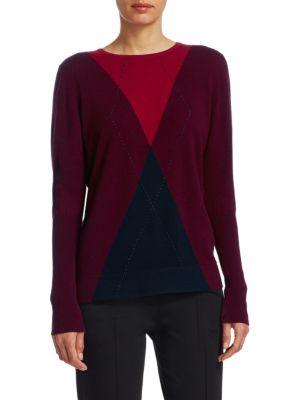 Wool & Cashmere Argyle Sweater