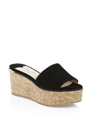 DeeDee Suede Cork Wedges