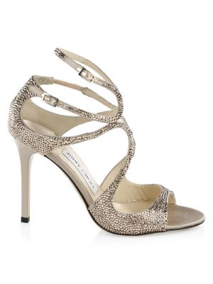 Lang Metallic Embellished Heels